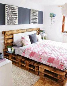 łóżko z palet do sypialni dziecka