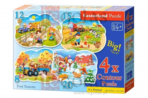4x1 Contour Puzzle 8-12-15-20 Four Seasons